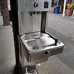 Filtered and chilled water fountain